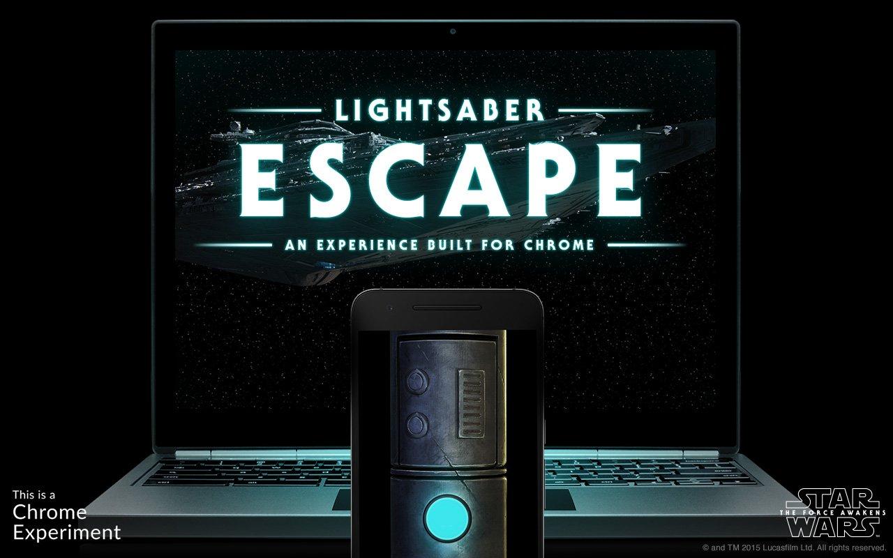 Convierte tu celular en un sable de luz con Lightsaber Escape