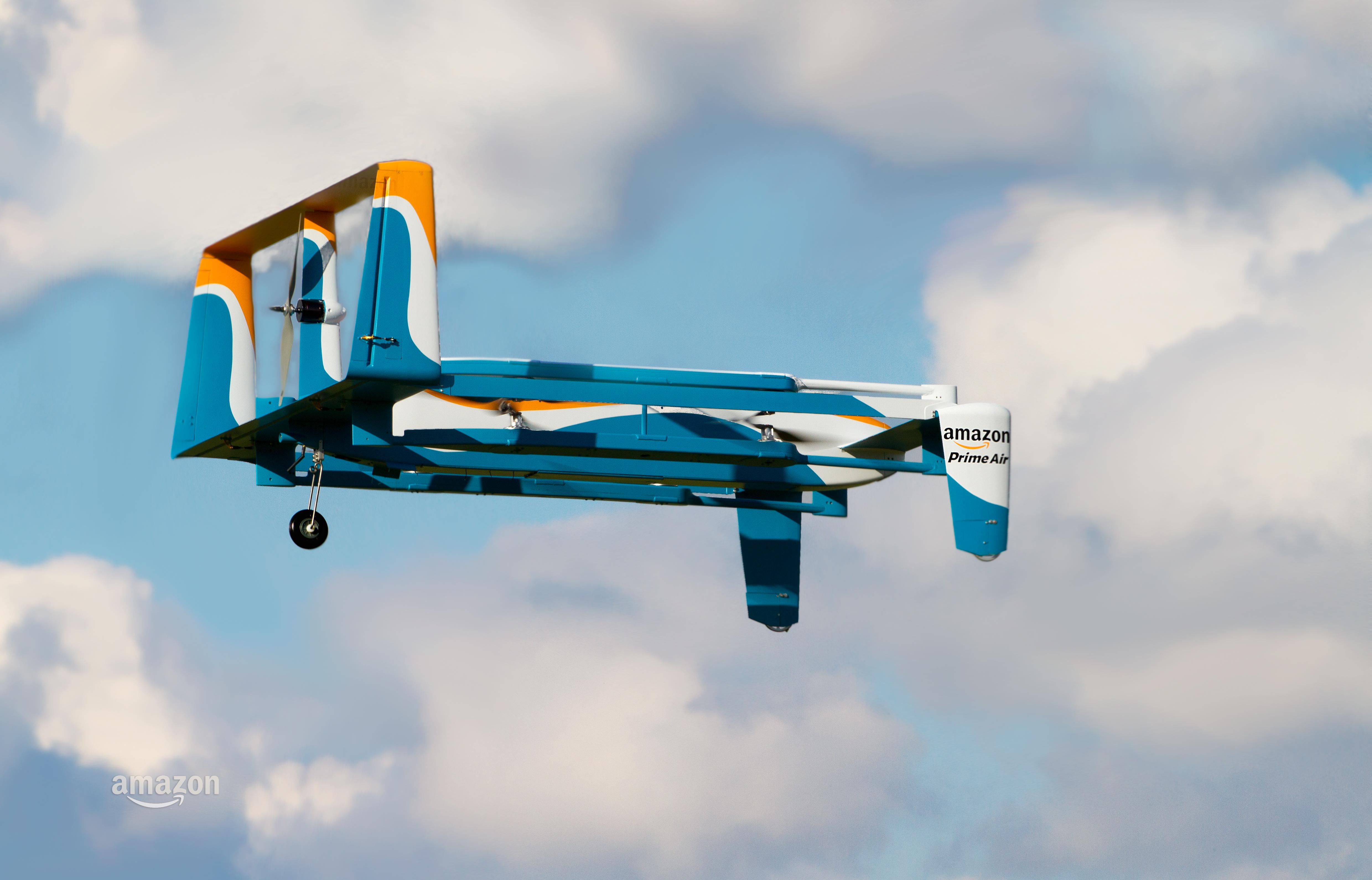 Primer vistazo al nuevo dron de Amazon Prime Air