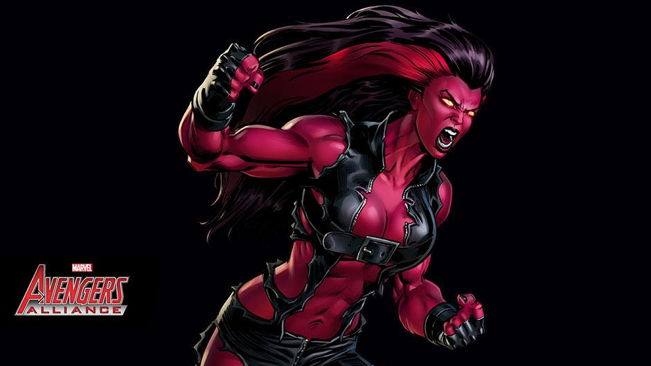 La Radiante Red She-Hulk llegó a Marvel Avengers Alliance