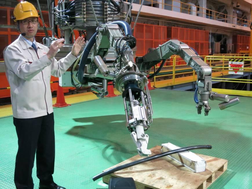 Toshiba fabrica robot para limpiar planta nuclear en Japón