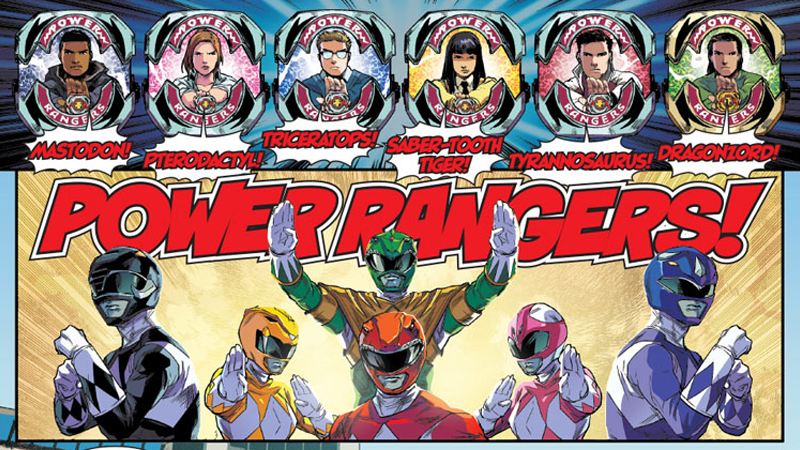Preview de Mighty Morphin Power Rangers #1