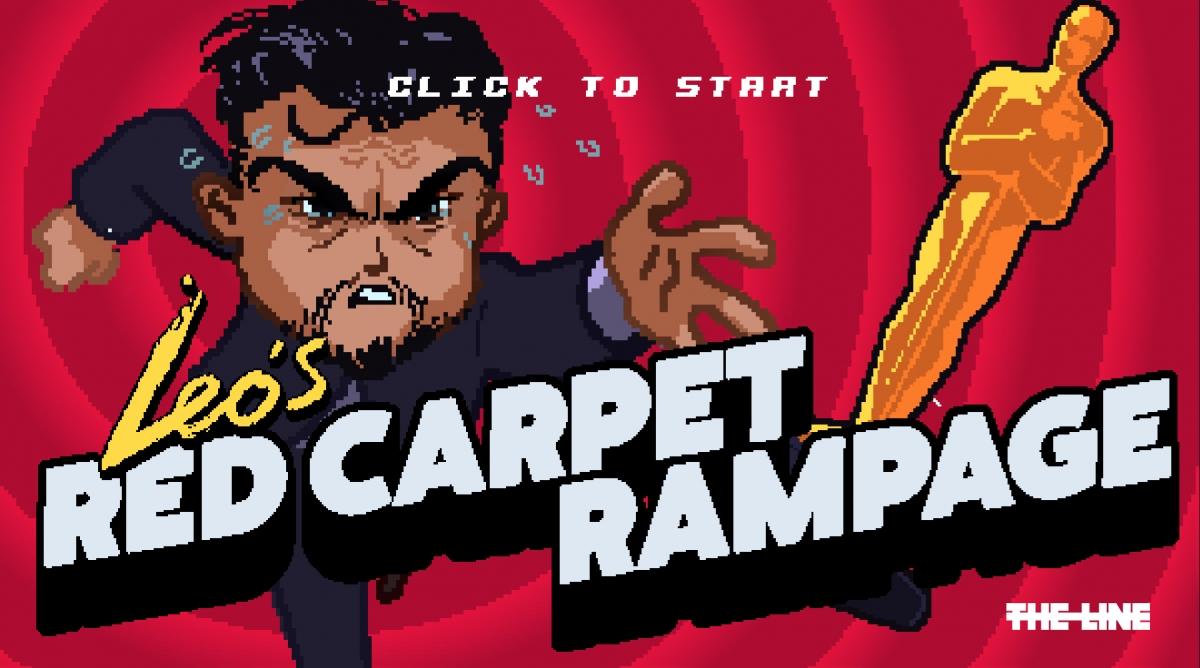 Leonardo DiCaprio persigue el Oscar en Leo's Red Carpet Rampage