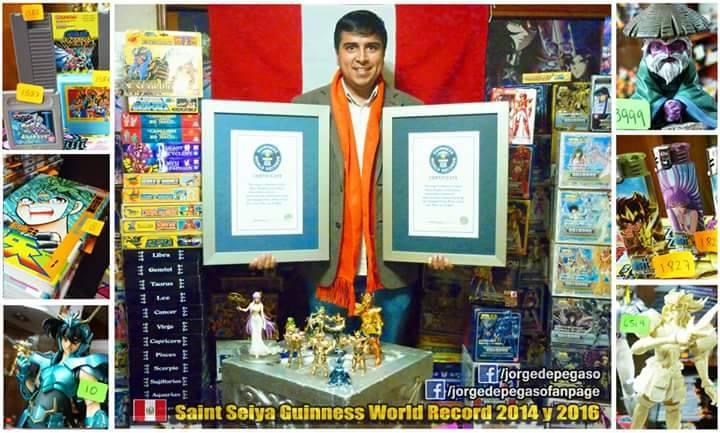 Entrevista a Jorge Vásquez, record Guinness por colección de Saint Seiya