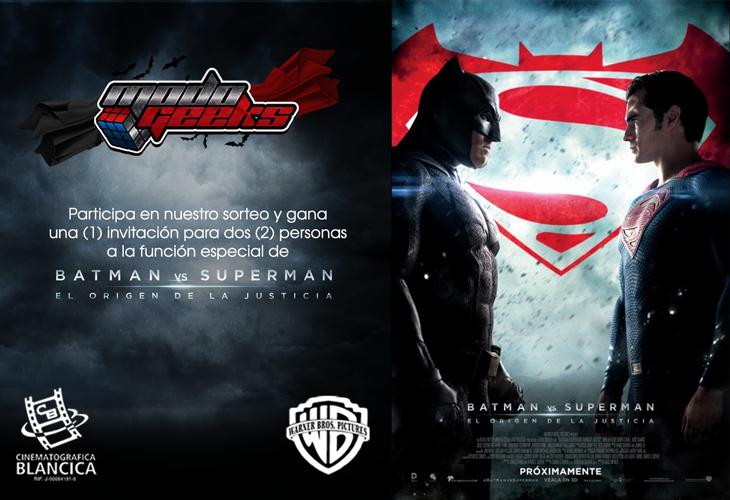 Sorteo: Batman v Superman: El Origen de la Justicia – Facebook