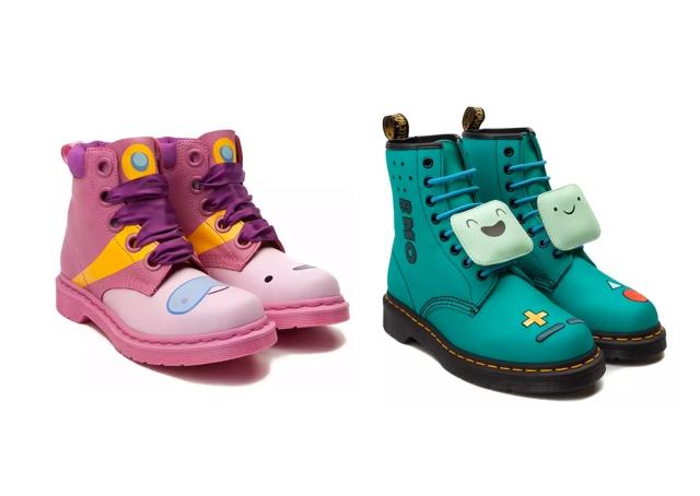 Admira las botas con diseños únicos de Hora de Aventura