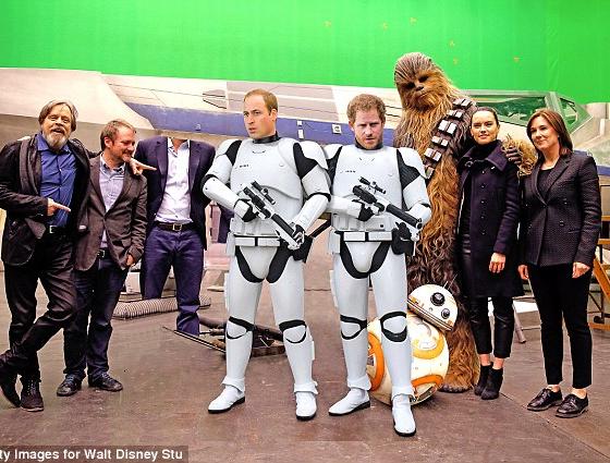 Los principes William y Harry filmaron cameos para Star Wars VIII