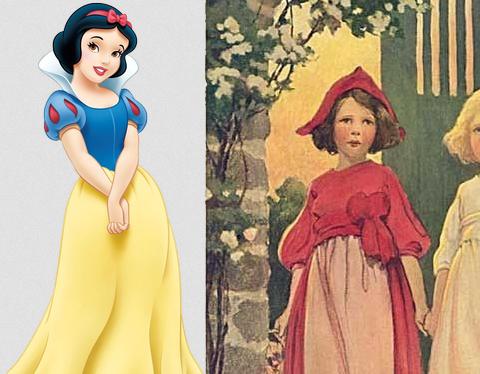Disney trabajando en película de Rosa Roja como hermana de Blancanieves