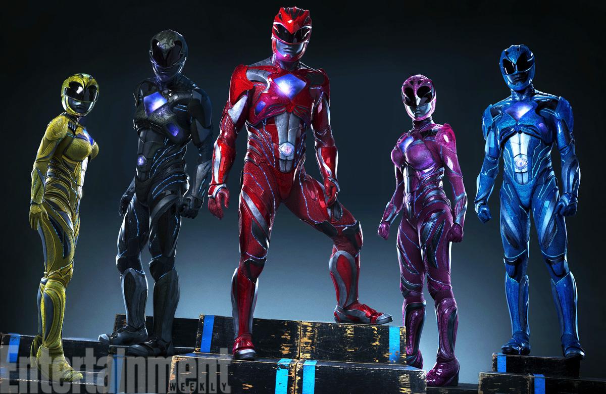 ¡Primer vistazo a los trajes de los Power Rangers!