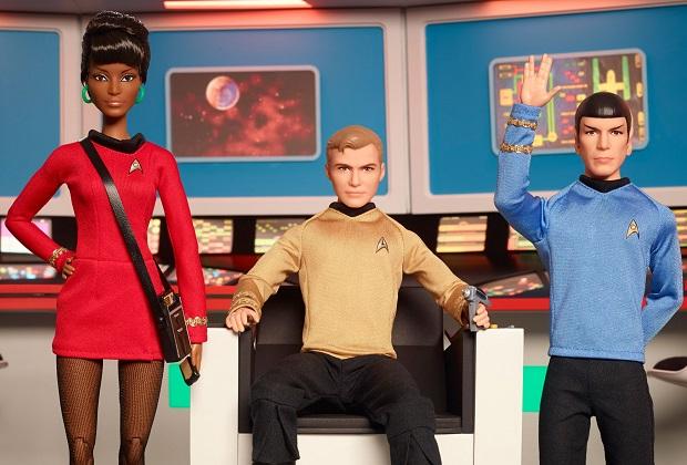 Kirk, Spock y Uhura vuelven como Barbies de colección