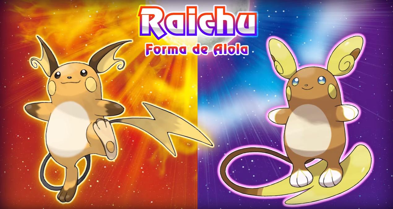 Pokémon Sol y Luna revela forma Alola de ¡Raichu!