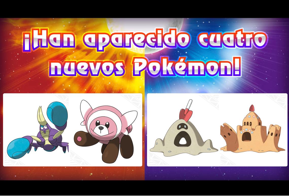 ¡Nuevos pokémon llegan a Pokémon Sol y Luna!