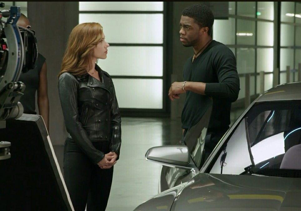 No te pierdas esta escena entre Black Widow y Black Panther en Civil War
