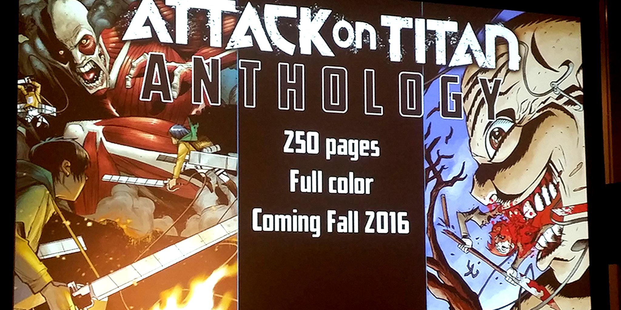NYCC: Antología de Attack on Titan de Kodansha Comics en camino