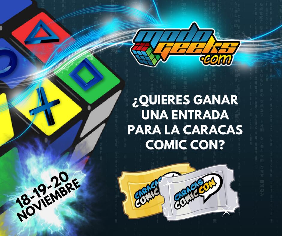 CONCURSO: Caracas Comic Con Noviembre 2016 – Facebook