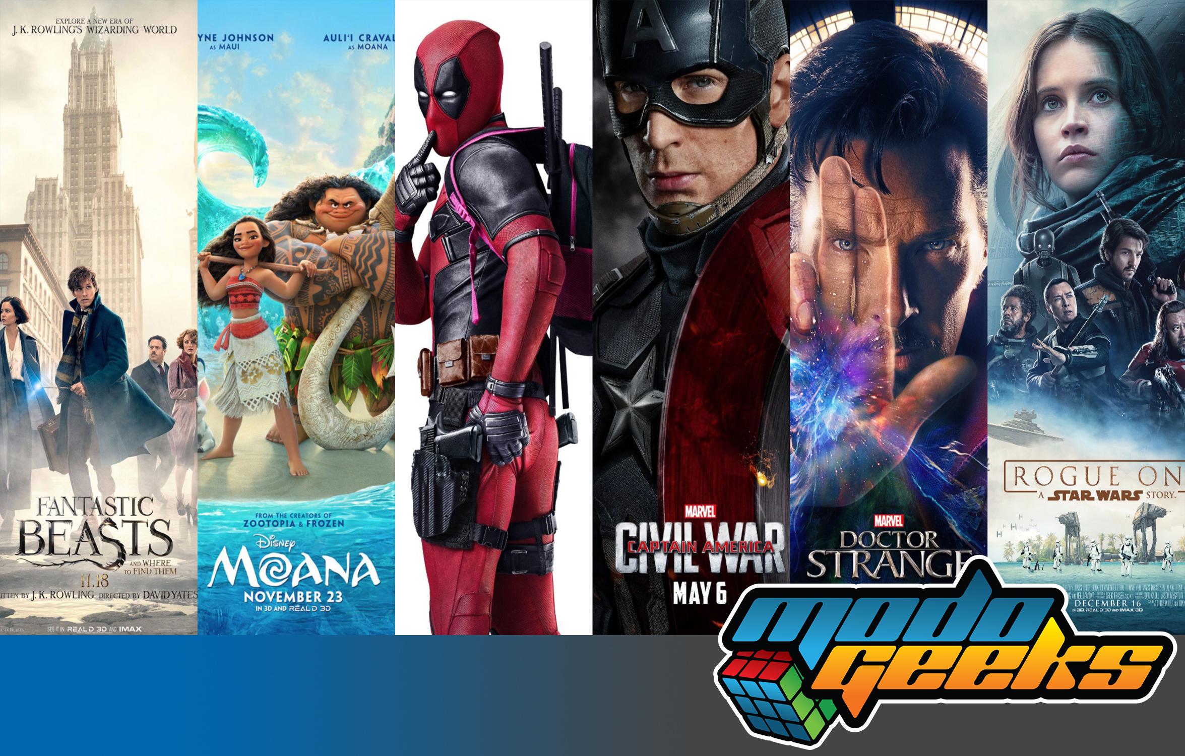 TOP 5 ModoGeeks: Películas del 2016